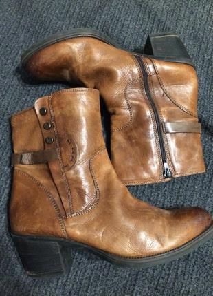 Clarks ботинки сапожки кожаные