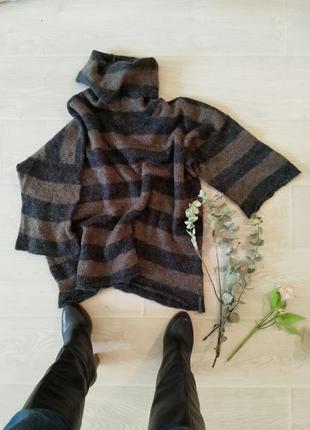 Натуральный мохеровый брендовый свитер овер сайз теплый mark o...