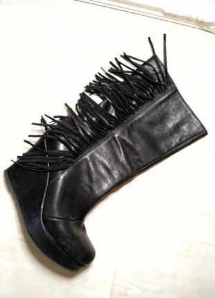 Высококачественные кожаные италия сапоги женские на платформе ...