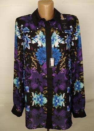 Блуза стильная новая в принт marks&spencer uk 14/42/l