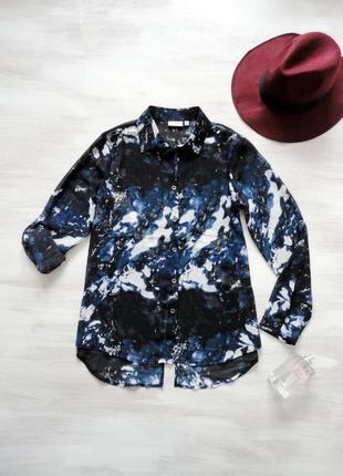 """Блуза fransa шифоновая, """"галактическая"""" расцветка, рукава с по..."""