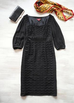 Платье monsoon нарядное по фигуре, из кружева, рукава воздушны...