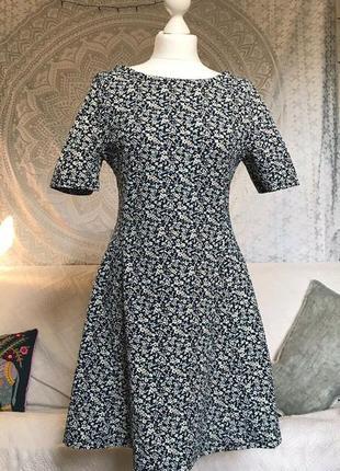 Платье next в мелкий цветочный принт, расклешенное, в винтажно...