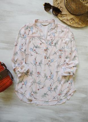 Нежная блуза f&f из мягкой вискозы пастельно-розовая в принт п...