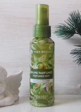 Парфюмированный спрей для тела и волос yves rocher олива-петит...