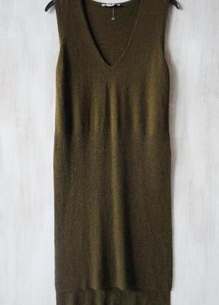 Жилет zara knit длинный, асимметрия по низу и разрезы по бокам