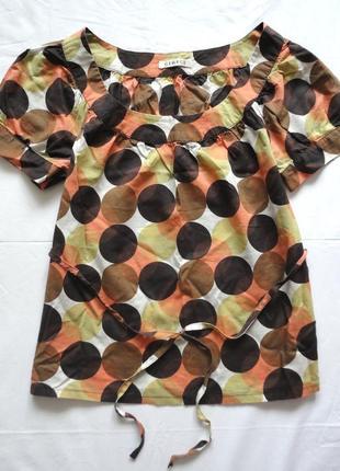 Блузка george хлопковая геометрический принт (горох) в актуаль...