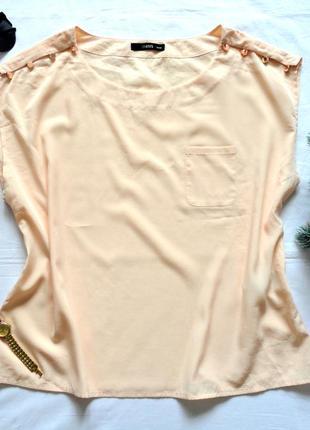Блуза oasis нежного персикового цвета свободная
