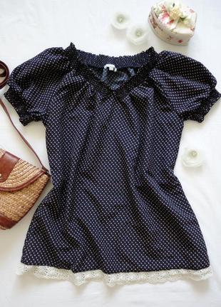 Блуза maddison плотный шифон, мелкий цветочный принт, по низу ...