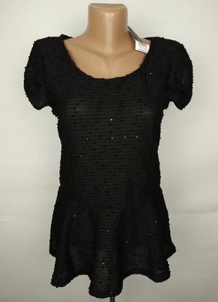 Блуза новая шикарная нарядная с паетками uk 10/38/s