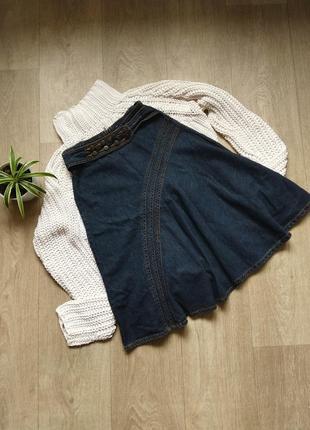 Юбка джинсовая клеш