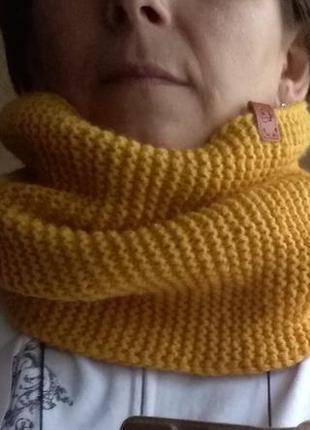Очень удобный и теплый снуд, хомут, круговой шарф