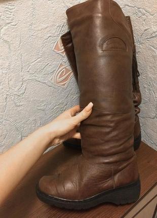Сапоги ботфорты зимние натуральная кожа и мех