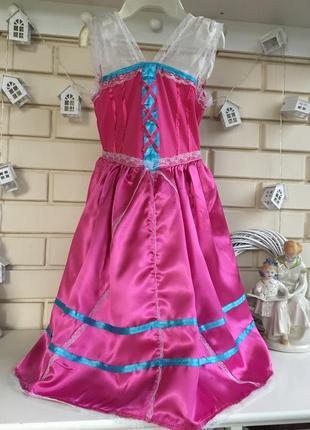 Новогоднее нарядное платье на девочку 5-7лет