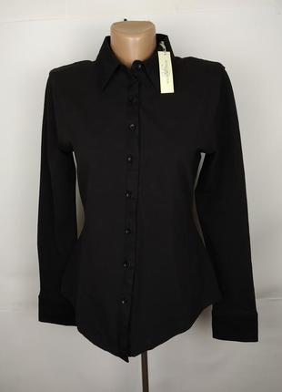 Блуза рубашка новая базовая плотный трикотаж uk 14/42/l