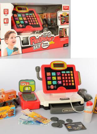 Детский игровой набор кассовый аппарат Bambi с весами и сканер...