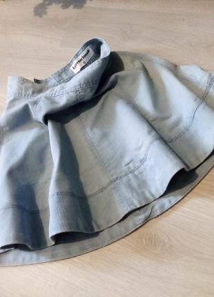 Брендовая юбка котон джинсовая moda international