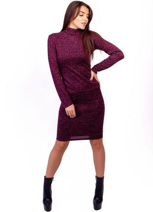 Теплое ангоровое платье