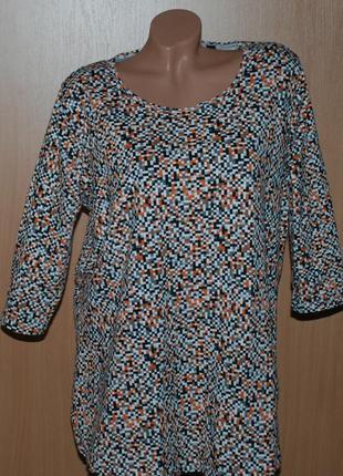 Блуза  бренда tcm tchibo /95%хлопок / эластичный/рукав 3/4
