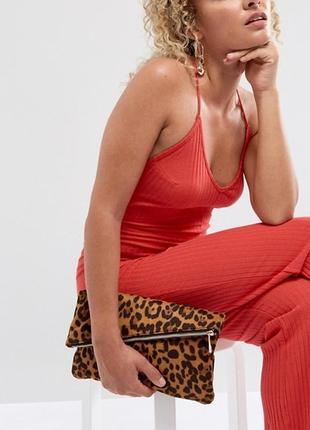 Леопардовый клатч asos.