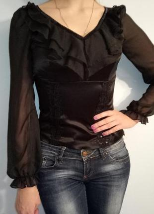 Черная блуза