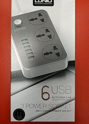 Сетевой удлинитель LDNIO SE3631 с USB
