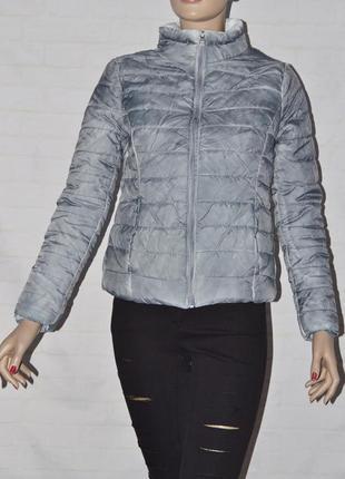 Короткая женская стеганая куртка демисезон