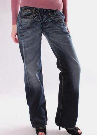 Джинсы темно-синие прямые с пропиткой w29 l32 *pepe jeans* par...