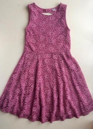 Кружевное платье от tu на 8 лет, рост 128