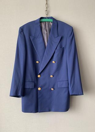 Loro piano двубортный шерстяной пиджак.