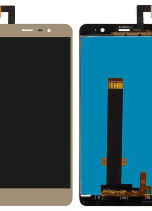 Дисплей Xiaomi Redmi Note 3 / Redmi Note 3 Pro с сенсором золотой
