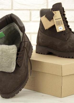 Натуральные мужские мартинсы ботинки на меху зимние