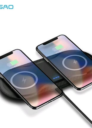 Нова безпровiдна зарядка DUAL FDGAO iPhone/Android
