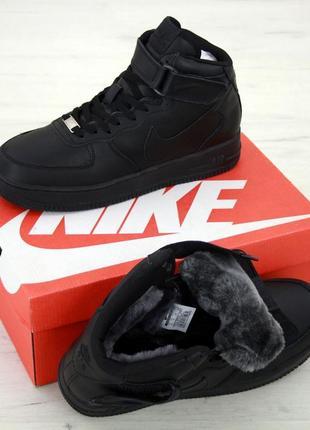💥nike air force winter ❄️ кожаные зимние мужские ботинки сапог...