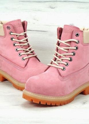 Натуральные зимние кожаные высокие ботинки сапоги на меху женс...