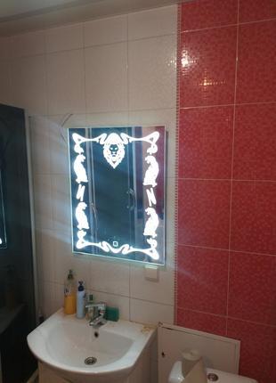 Зеркало с led подсветкой, в ванную, трюмо, логотипов