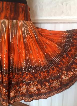 Яркая котоновая юбка, размер 50-52.
