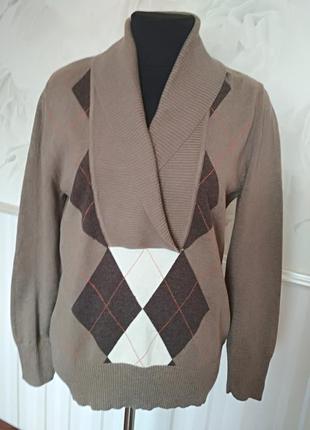 Качественный натуральный свитер, размер 50-52.