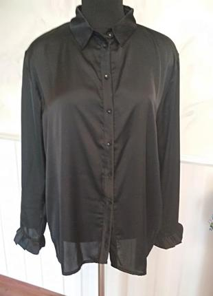 Тонкая шелковая блуза, размер 50.