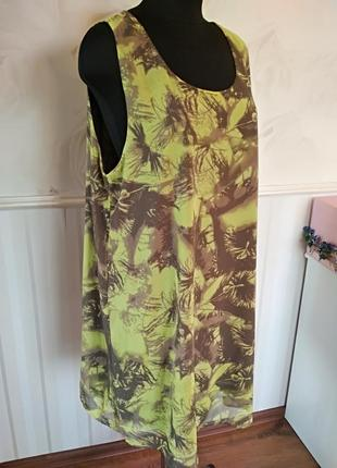 Шифоновый платье-сарафан на трикотажной подкладке, размер xxl,...