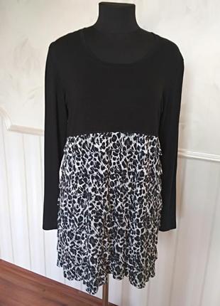 Трикотажное платье-туника, размер 50-52.