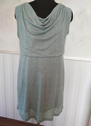 Двухслойное трикотажное платье, размер 44\46 l, наш 48-50-52.