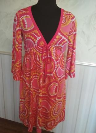 Трикотажное платье-туника  размер 46-48-50.