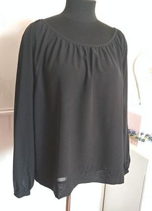 Нарядная шифоновая блуза, размер 50-52-54.