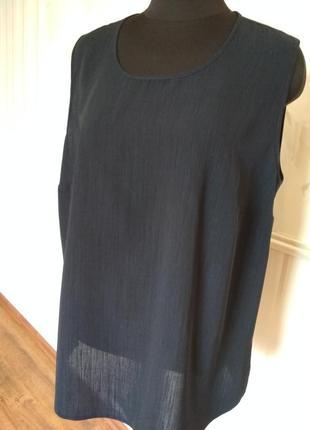 Блуза-майка синего цвета, размер 50-52.