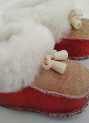 Теплые натуральные сапожки-пинетки, 12 см.
