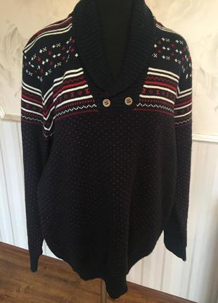 Шикарный теплый свитер большого размера xxl, наш 56-58.