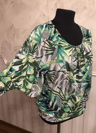Трикотажная блуза размер l, наш 50.