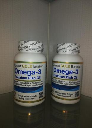 California gold nutrition, омега-3, рыбий жир 100шт