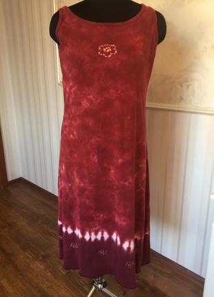 Платье-майка из натурального котона, размер l, наш 48-50-52.